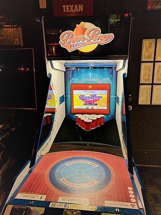 Beer pong - A beer pong arcade machine.