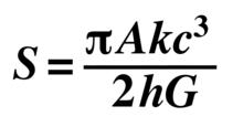 S=1/4 c3 k A ħ-1G-1.