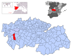 Location in the province of Toledo