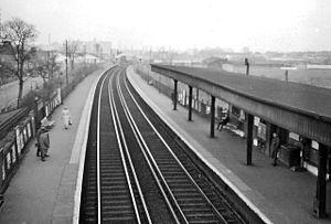 Belvedere railway station - Belvedere Station in 1961
