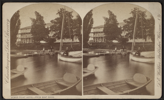 Ellery, New York - Bemus Point Hotel and Boat Dock, Bemus Point, NY