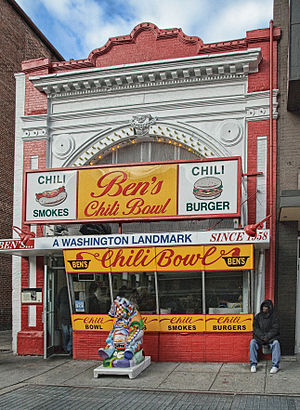 U Street - Ben's Chili Bowl, a neighborhood landmark