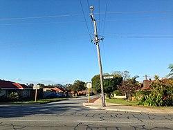 Bending power pole Belmont western australia .jpg
