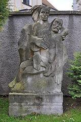 Socha Piety u kostela v Přibyslavi