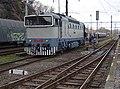 Beroun, Křivoklát expres (2014-12-13), posunující postrk (03).jpg
