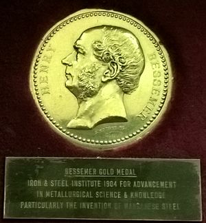 Institute of Materials, Minerals and Mining - Bessemer medal awarded 1904 to Robert Hadfield