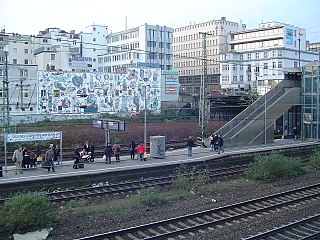 Düsseldorf Wehrhahn station railway station in Düsseldorf, Germany