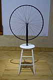 Bicycle wheel by Marcel Duchamp, 1913, this version 1964 - Galleria nazionale d'arte moderna - Rome, Italy - DSC05467.jpg