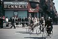 Biking freedomfighters in front of the Bennett travelling agency at Rådhuspladsen (town square) in Copenhagen..jpg
