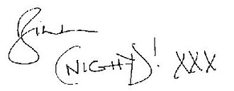 Bill Nighy - Image: Bill Nighy's signature