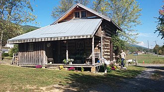 A. P. Carter Homeplace - Image: Birthplace cabin of A.P. Carter at the Carter Fold at Maces Springs, Virginia now Hiltons, Virginia