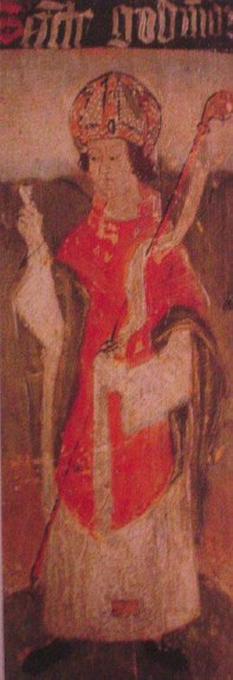 Guðmundur Arason - A drawing of Guðmundur from a medieval manuscript