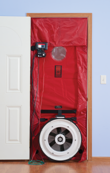 installing duct blaster blower door marquette mustangsmarquette mustangs. Black Bedroom Furniture Sets. Home Design Ideas