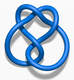 Unknotting number - Image: Blue Three Twist Knot