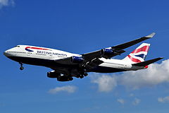 Boeing 747-436 w barwach British Airways