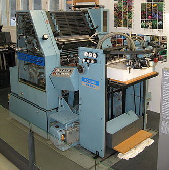 Offset printing -  Roland Favorit RF01 sheet-fed offset press