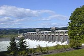 The Bonneville Dam in the Pacific Northwest, USA