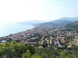 View of Borgio and Pietra Ligure