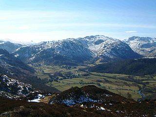 Glaramara mountain in United Kingdom