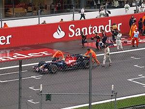 2008 Italian Grand Prix - Sébastien Bourdais stalls on the grid