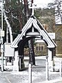 Bournemouth, St. Swithun's lychgate in snow - geograph.org.uk - 1150577.jpg