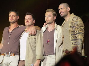 Boyzone - The four surviving Boyzone members during their Brother Tour.