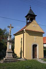 Wayside cross near chapel