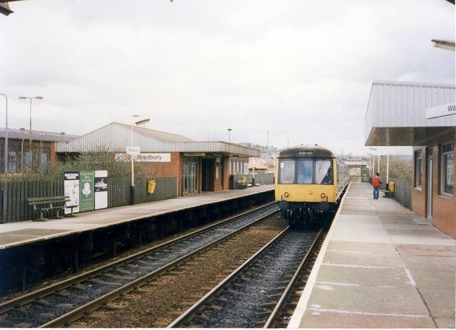 Bredbury railway station in 1989