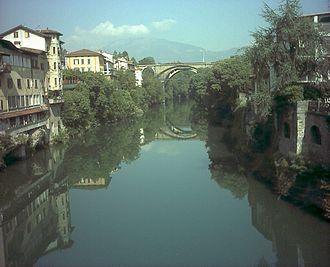 Brembo (river) - The Brembo at Ponte San Pietro.