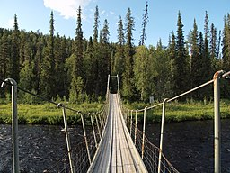 Bridge over the river Nuortti in Lapland, Finland.jpg
