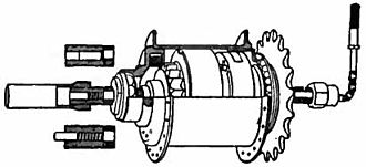 Henry Sturmey - Cross-sectional diagram of the Sturmey-Archer three-speed hub