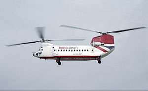 British Airways Helicopters - Boeing 234 in 1985