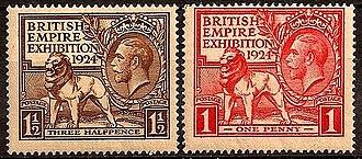 1924 in the United Kingdom - Image: British Empire pair 1924 issue 1p