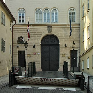 Embassy of the United Kingdom, Prague