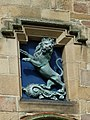 Bronze lion over the door of Tain Tollbooth (geograph 2520653).jpg