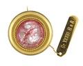 Brosch med rosenkvarts, 1800-talets mitt - Hallwylska museet - 98885.tif