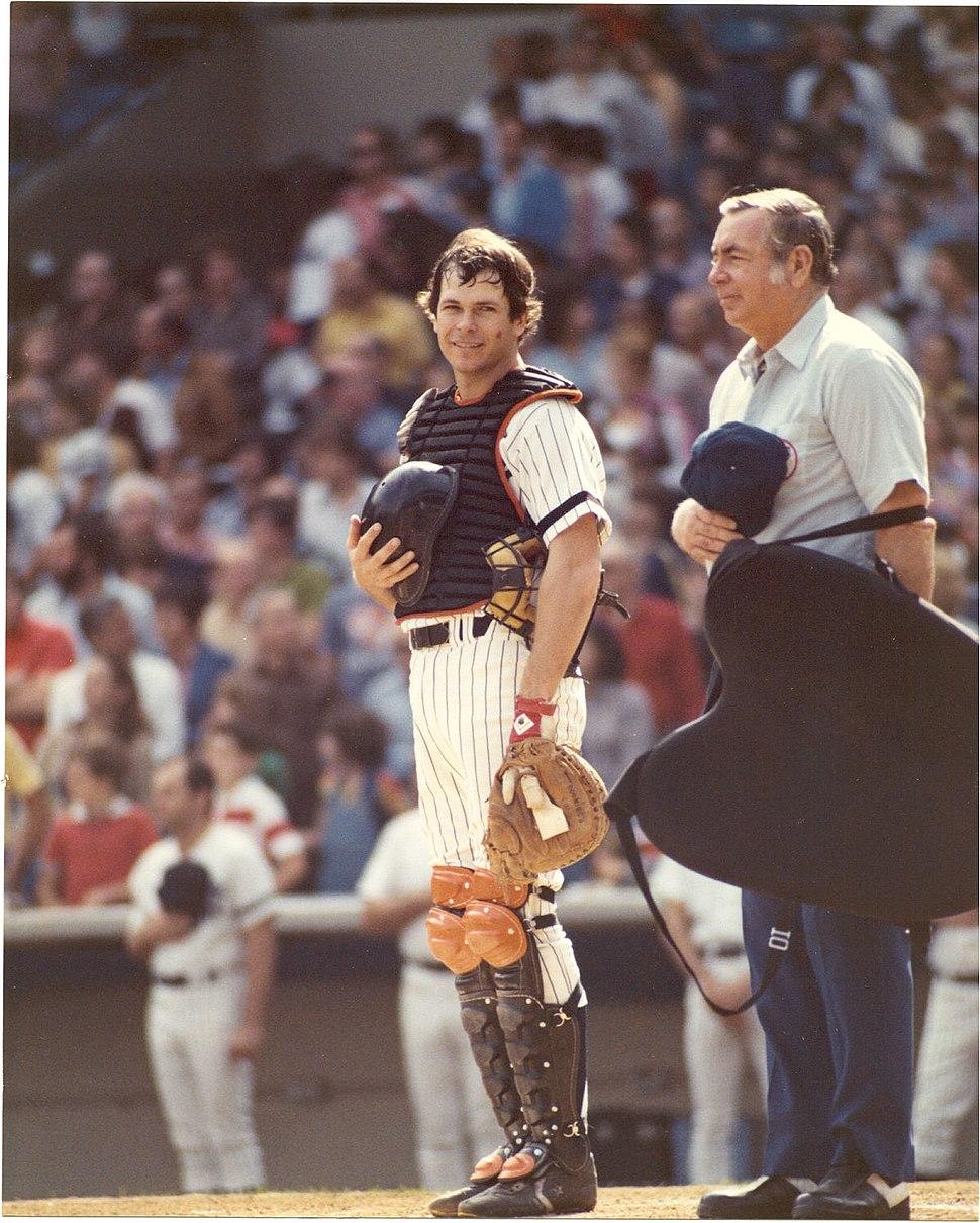 Bruce Robinson Yankee Stadium During National Anthem