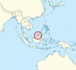 Location of  Brunai  (red)