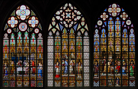 Stained glass windows by Jean-Baptiste Capronnier