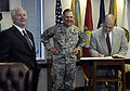 Bryan D. Brown Robert Gates 2007.jpg