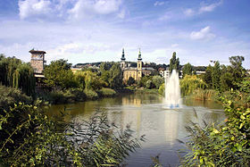 Budapest - Bottomless Lake and St Imre Church.jpg