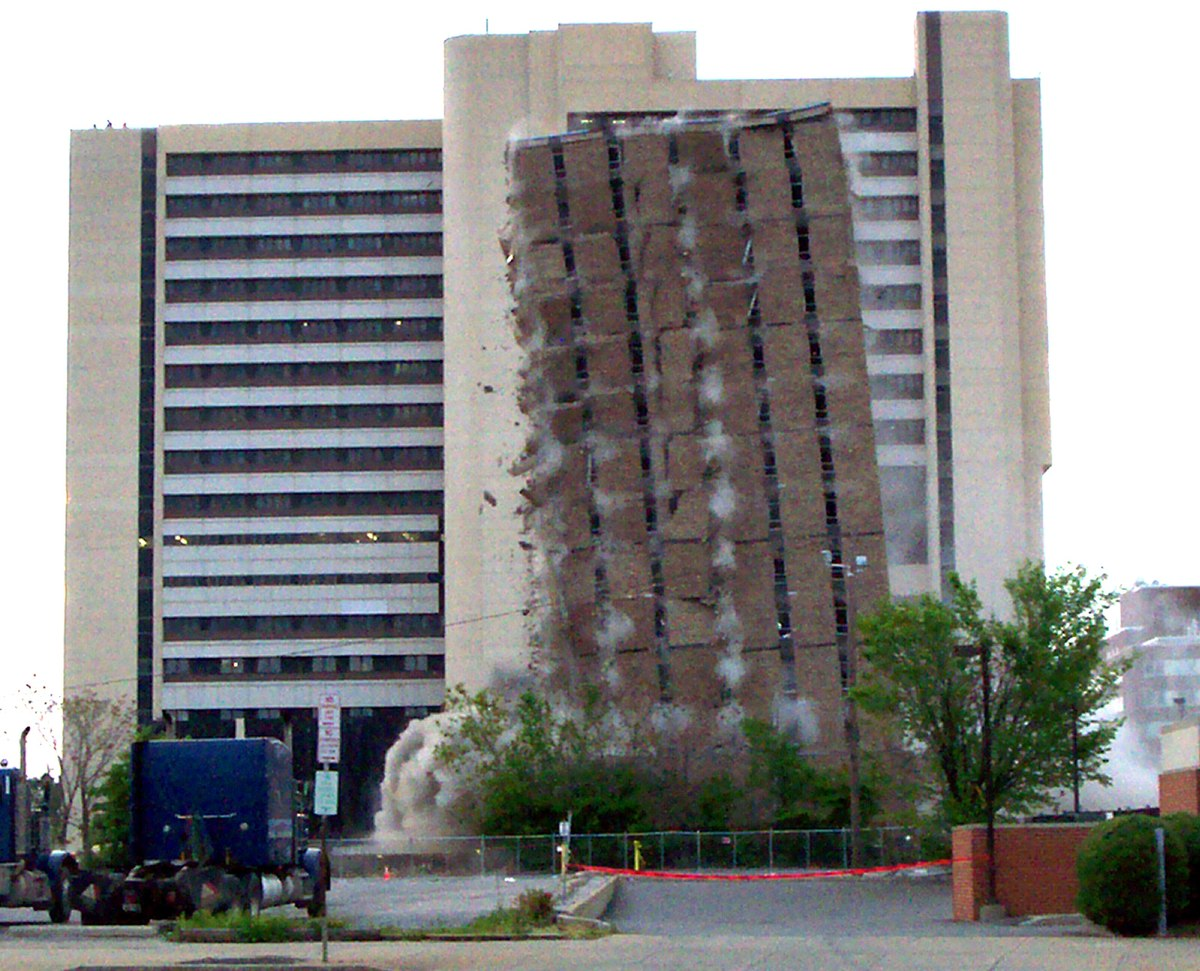 Controversial medical center demolished in Buffalo, New ...