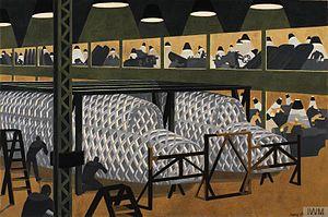 John Armstrong (artist) - Building Planes, 1940, (Art.IWM ART LD 6390)