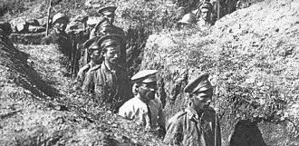 Vardar Offensive - Bulgarian prisoners of war captured at Skra.