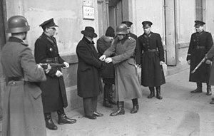 Blue Police -  German Ordnungspolizei and Blue Police at Kraków in 1941