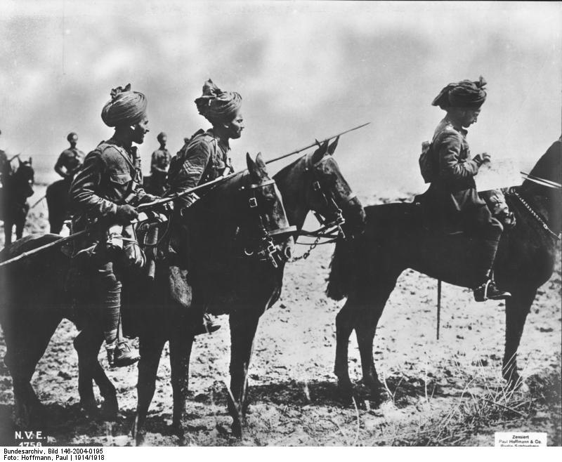 Bundesarchiv Bild 146-2004-0195, Westfront, indische Kavallerie