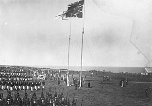 Heligoland–Zanzibar Treaty - Handover ceremony on Heligoland, 10 August 1890