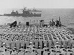 Burial at sea aboard USS Oriskany (CVA-34), 6 November 1966 (NH 97411).jpg