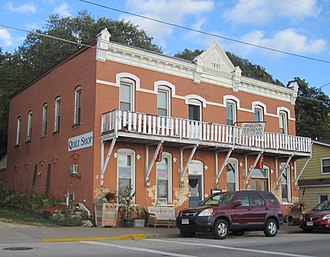 National Register of Historic Places listings in Buffalo County, Wisconsin - Image: Burlington Hotel in Alma, WI