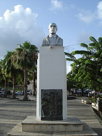 Guadeloupe - A bust of French abolitionist Victor Schoelcher.